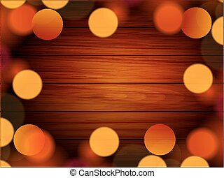 Christmas lights on the background boards