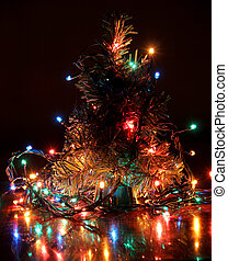Christmas lights tree
