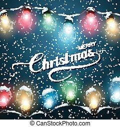 Christmas Lights. Vector Holiday Illustration