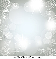 christmas lights with snowflakes background. vector...