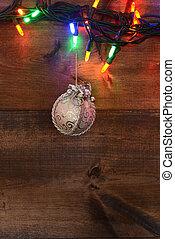 christmas lights, zilver, versiering