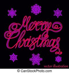 Christmas lilac background. Vector.