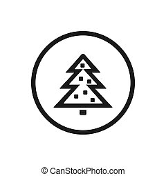 Christmas line icon on a white background