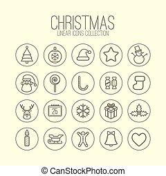 Christmas Linear Icons