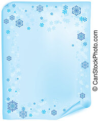 Christmas list with snowflake - Blank paper for messages...