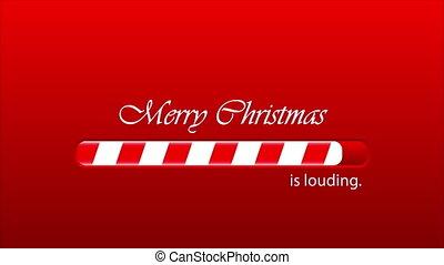 Christmas loading bar, art video illustration.