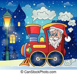 Christmas locomotive theme image 2 - eps10 vector...