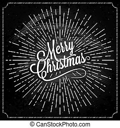 Christmas Logo On Chalk Background