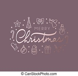 Christmas luxury greeting card design