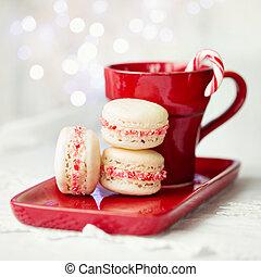 Christmas macarons