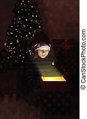 Christmas magic gift box
