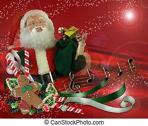 Christmas Magic Santa Background
