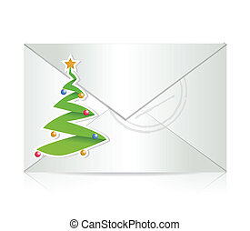 christmas mail illustration design