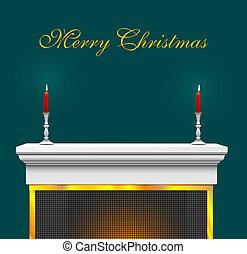 Christmas Mantle Bkg