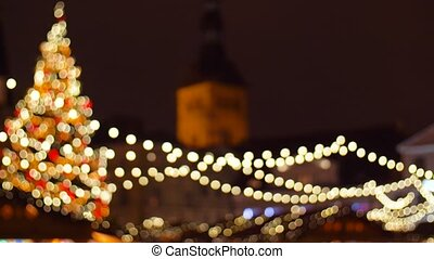 christmas market at old town in tallinn - holidays and...