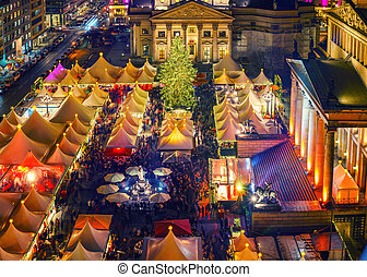 Christmas market in Berlin - Christmas market near Deutscher...