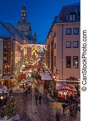 Christmas Market in Dresden - DRESDEN, GERMANY - DECEMBER 7...
