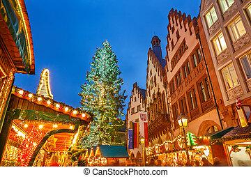 Christmas market in Frankfurt - Traditional christmas market...