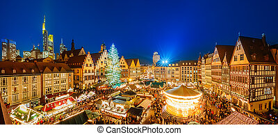 Christmas market in Frankfurt - Traditional christmas market...