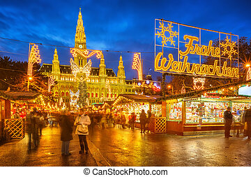 Christmas market in Vienna - Traditional christmas market in...