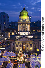 christmas market on the gendarmenmarkt market place in...