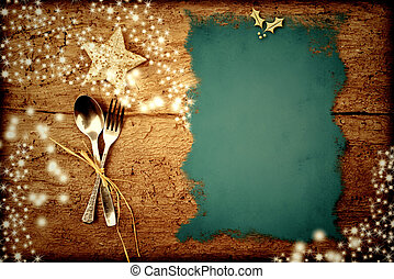 Christmas menu background - Background for writing the...