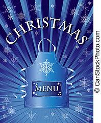 christmas menu blue