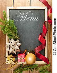 Christmas menu frame