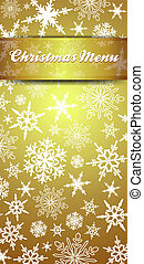 Christmas Menu Invite Snowflakes