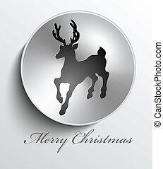 Christmas metal button