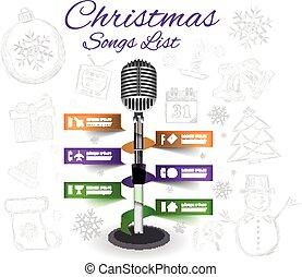 Christmas Microphone infographics
