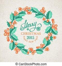 Christmas mistletoe wreath.