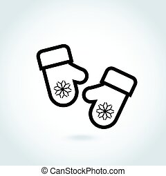 Christmas mitten icon