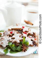 Christmas morning tea with cookies