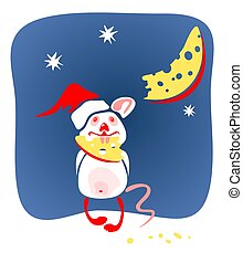 christmas mouse and cheese