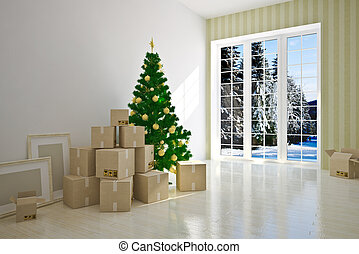 Christmas moving house - Christmas Interior moving house...