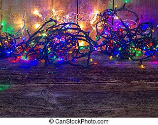 Christmas multicolored lights