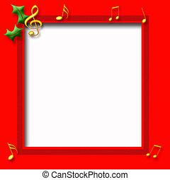 Christmas music poster