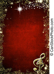 Christmas musical background, copyspace. - Christmas musical...