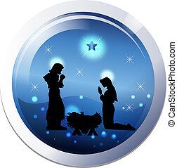 Christmas nativity 25th december scene
