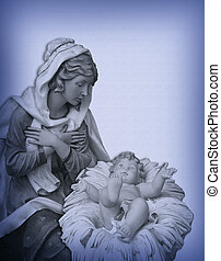 Christmas Nativity Madonna Jesus - Image and illustration...