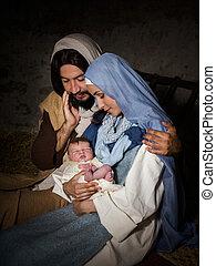 Christmas nativity manger
