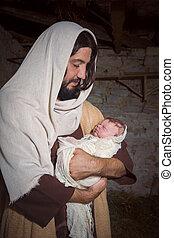 Christmas nativity reenactment