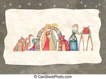 Christmas Nativity scene - Christian Christmas Nativity...