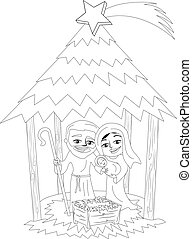Cartoon comet coloring page. Black and white cartoon ...