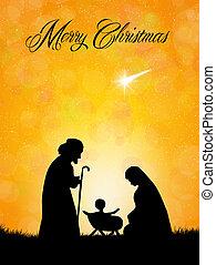 Christmas Nativity Scene silhouette