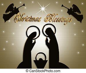 christmas nativity táj, modern