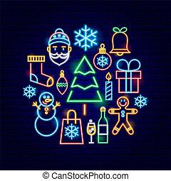 Christmas Neon Concept