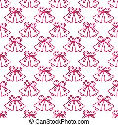 Christmas, New Year 2019 pattern with bells