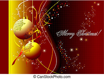 Christmas - New Year background. Vector